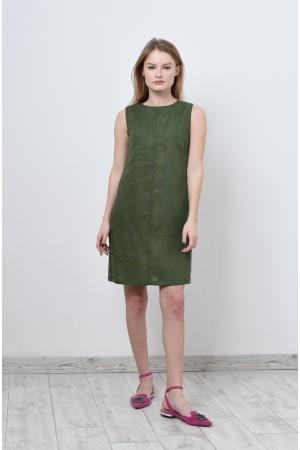 Платье льняное без рукава