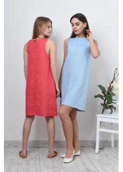 Платье льняное трапеция