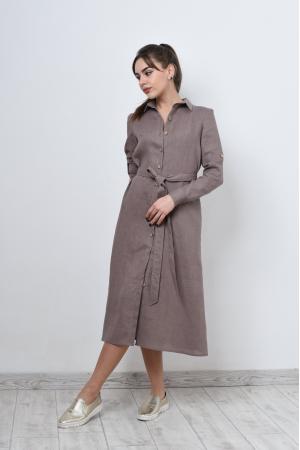 Свободное платье рубашка из льна