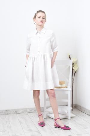 Свободное платье из льна