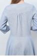 Платье из льна с удлиненной юбкой