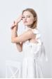 Льняное платье с завязками на спине