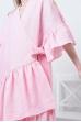 Платье льняное свободное на завязках